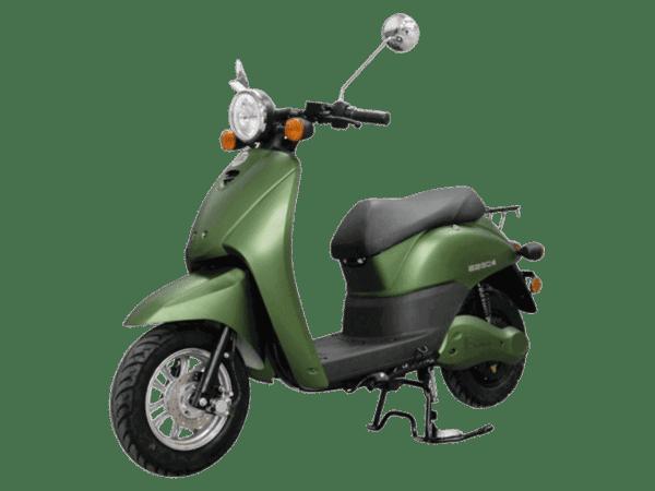 E2go električni skuter, zelene boje, levi poluprofil